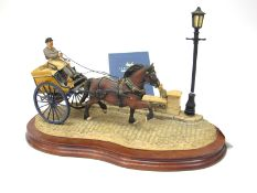 A Border Finer Arts Figure Group 'Delivered Warm', a horse drawn baker's van, model no. B0040 by Ray