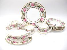 Royal Worcester 'A Royal Garden' Pattern Part Dinner/Tea Service, comprising six dinner plates,