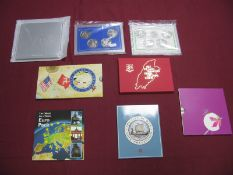 Eight Coin Presentation Packs, to include the Isle of Man Coin Collection 1990, Isle of Man