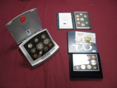 Three Royal Mint United Kingdom Coin Sets, comprising of Year 2000 Executive Proof Coin