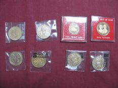 Eight Isle of Man and Gibraltar Coins, to include Isle of Man £2 1996, Five Pounds 1997, 1996,