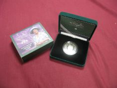 The Royal Mint 2000 Queen Elizabeth The Queen Mother Silver Piedfort Centenary Crown, accompanied by