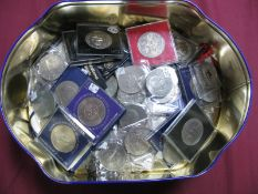 Approximately Eighty GB Commemorative Crowns, to include Churchill 1965, Silver Wedding Crown 1972.