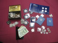 A Collection of GB and Overseas Coins and Banknotes, to include George VI Halfcrown 1941, Holland