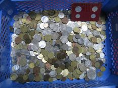 A Quantity of Predominantly Base Metal Overseas Coins, mainly countries represented, redeemable