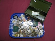 A Mixed Collection of Base Metal Coins, to include pre-decimal, Commemorative Crowns, 1951