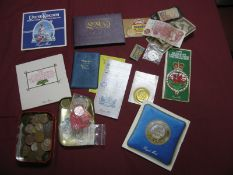 A Collection of Coins and Banknotes, to include Royal Mint BU Annual Coin Sets 1970, 1984, 1987,