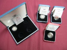 Four Royal Mint United Kingdom Silver Proof One Pound Coins, comprising of 1998 Silver Proof
