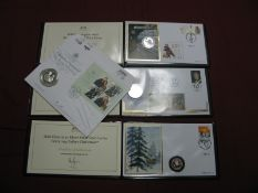 Four Harrington and Byrne Philatelic/Numismatic Covers, including Gibraltar 2018 Christmas fifty