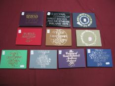 Ten Royal Mint Coinage of Great Britain and Northern Ireland Coins Sets, comprising of 1970, 1972,