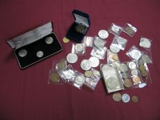 A Collection of Mainly G.B. Pre-Decimal Coins, to include Commonwealth Crowns, QEII UK 1953 Nine