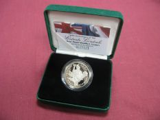 The Royal Mint 100th Anniversary of The Entente Cordiale Silver Proof Piedfort Crown, Five Pounds