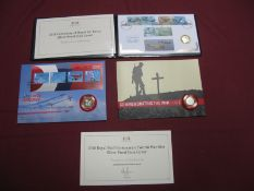 Three United Kingdom Two Pounds Silver Proof Coin Philatelic/Numismatic Covers, to include 2018