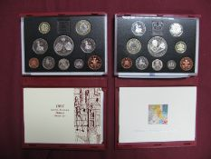 Two Royal Mint United Kingdom Deluxe Proof Coin Sets, 1997, 1998, accompanied by literature, cased.