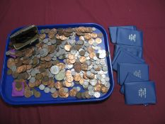 A Quantity of G.B. Pre-Decimal and Decimal Base metal Coins, Commemorative Crowns, Assorted