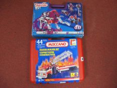 Two Modern Meccano Sets No 44 and No 40, both appear unopened.