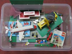 A Quantity of Predominantly Circa 1980's Lego Pieces, appearing to be from #6392 Legoland Airport