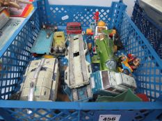 A Quantity of Diecast Vehicles, mainly by Dinky and Corgi, often of a TV/Film theme, all playworn.