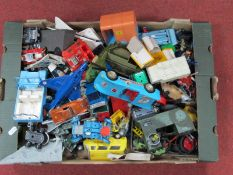 A Quantity of 1960's and Later Toy Vehicles by Dinky, Corgi, Tri-ang and Others, all playworn.
