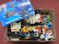 A Fisher Price Alpha Star Plastic Model Lunar Space Vehicles (Adventure People), with trailer (circa