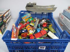 A Quantity of Mainly Matchbox 1-75's, both regular wheel and Superfast, all playworn.