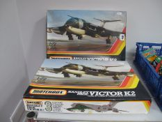 Two Matchbox 1:72nd Scale Handley Page Victor K-2 Plastic Model Military Aircraft Kits, kits
