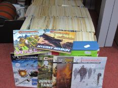 Approximately Three Hundred and Eighty Commando For Action and Adventure Comics, editions appear