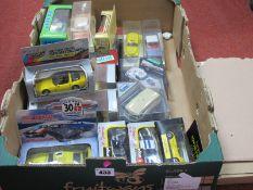 Twenty Plus Diecast Model Vehicles by Solido, Eligor,, City Vitesse, Burago, Lledo and Other, Mostly
