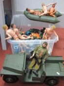 A Large Quantity of Original Action Man and Similar Items, including six original figures, two