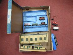 Hornby Dublo Set EDG17 Tanks Goods Train, box with four wagons only, Dublo 2 Rail Station and Engine