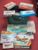 A Quantity of Plastic Model Military Aircraft Kits, by assorted makers, all kits have either been
