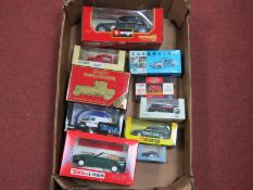 Ten Diecast Model Vehicles, of differing scales by Tonka, Polistil, Burago, Corgi, Oxford,