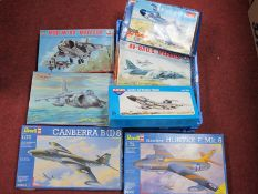 Seven 1:72nd Scale Plastic Model Military Aircraft Kits, by Novo, Revell, Esci and other including