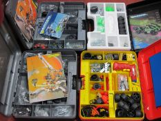 Four Modern Meccano Sets in Meccano Plastic Cases, some signs of minor use.