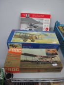 Three Plastic Model Military Aircraft Kits, comprising of 1:72nd scale Macchi Castoldi ML 72 by