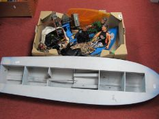 A Quantity of Modern Action Man Plastic Model Figures(5) and Accessories, including canoe,