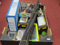 The Contents of an 'N' Gauge Model Railway Workshop, including Track, Lineside Accessories and
