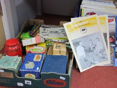 A Quantity of HRCA Magazines, Meccano, Hornby, Dinky Original and facimile catalogues, nuts and