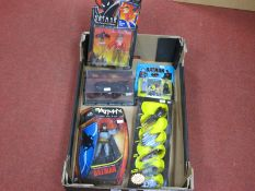 A Quantity of Modern Batman Themed Plastic and Diecast Toy Model Figures and Vehicles, to include