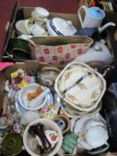 Aynsley Boxed Cake Plate, 1970's coffee pot, pair of tureens, Colclough tea ware etc:- Two Boxes.