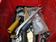 Tools - Spanner, hammer, screwdriver etc:- One Box
