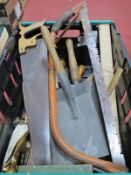 Saws, shovel, other tools:- One Box