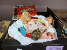 A Quantity of Playing Cards, dominoes, Palliutoy dolls, games, stylaphone:- One Box.