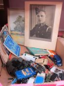 An Assorted Collection of Items, to include a quantity of playworn diecast model vehicles,