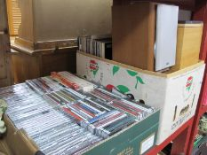 CD's, LP Records, Speakers, etc:- Two Boxes