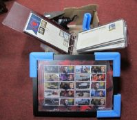 James Bond Limited Edition of 995 Ten Stamp Collection (framed), various First Day Covers and
