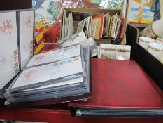 Postcards and Snap Shop Photograph Packets, mainly European, two albums of first day covers,