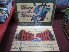 Cinema Posters - 'Ben Hur' MGM, starring Charlton Heston, Jack Hawkins 76 x 101cmn printed by W.E
