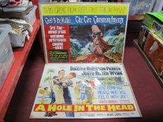 Cinema Posters - 'The Ten Commandments' Paramount Re-Release staring Charlton Heston, Yul Bryner
