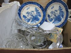 Glassware, ceramics, newspapers and die cast vehicles, Royalty related :-One Box